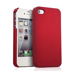 Etui Plastique Rigide Mat pour Apple iPhone 4 Rouge