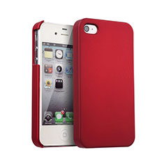 Etui Plastique Rigide Mat pour Apple iPhone 4S Rouge