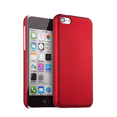Etui Plastique Rigide Mat pour Apple iPhone 5C Rouge