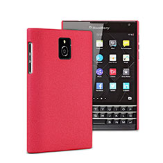 Etui Plastique Rigide Mat pour Blackberry Passport Q30 Rouge