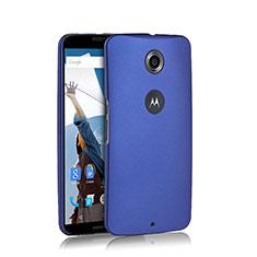 Etui Plastique Rigide Mat pour Google Nexus 6 Bleu