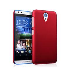 Etui Plastique Rigide Mat pour HTC Desire 620 Rouge
