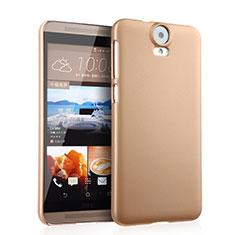 Etui Plastique Rigide Mat pour HTC One E9 Plus Or