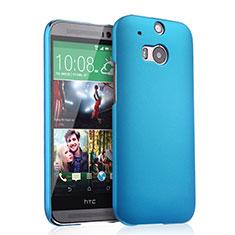 Etui Plastique Rigide Mat pour HTC One M8 Bleu Ciel