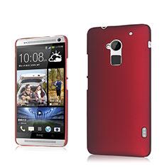 Etui Plastique Rigide Mat pour HTC One Max Rouge