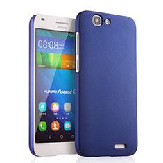 Etui Plastique Rigide Mat pour Huawei Ascend G7 Bleu