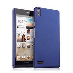 Etui Plastique Rigide Mat pour Huawei Ascend P6 Bleu
