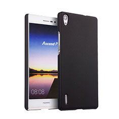 Etui Plastique Rigide Mat pour Huawei Ascend P7 Noir