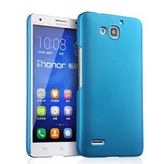 Etui Plastique Rigide Mat pour Huawei Honor 3X G750 Bleu Ciel