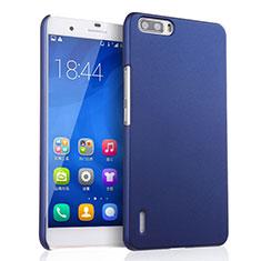 Etui Plastique Rigide Mat pour Huawei Honor 6 Plus Bleu