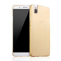 Etui Plastique Rigide Mat pour Huawei Honor 7i shot X Or
