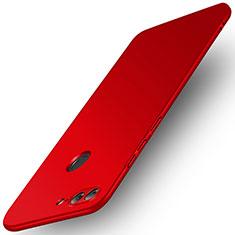 Etui Plastique Rigide Mat pour Huawei Honor 9 Lite Rouge