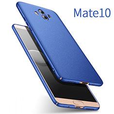 Etui Plastique Rigide Mat pour Huawei Mate 10 Bleu