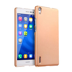 Etui Plastique Rigide Mat pour Huawei P7 Dual SIM Or