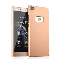 Etui Plastique Rigide Mat pour Huawei P8 Or