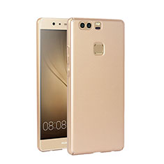 Etui Plastique Rigide Mat pour Huawei P9 Or