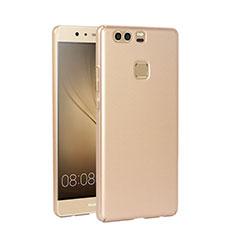 Etui Plastique Rigide Mat pour Huawei P9 Plus Or
