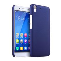 Etui Plastique Rigide Mat pour Huawei Y6 Bleu