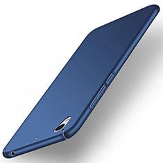 Etui Plastique Rigide Mat pour Huawei Y6 II 5.5 Bleu