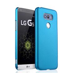 Etui Plastique Rigide Mat pour LG G5 Bleu Ciel
