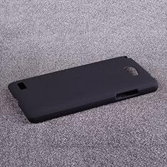 Etui Plastique Rigide Mat pour LG L Bello 2 Noir