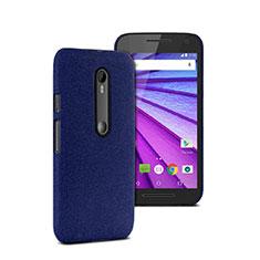 Etui Plastique Rigide Mat pour Motorola Moto G (3rd Gen) Bleu