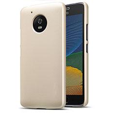 Etui Plastique Rigide Mat pour Motorola Moto G5 Or
