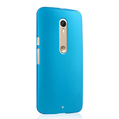 Etui Plastique Rigide Mat pour Motorola Moto X Style Bleu Ciel