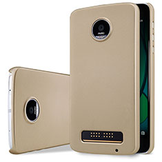 Etui Plastique Rigide Mat pour Motorola Moto Z Play Or