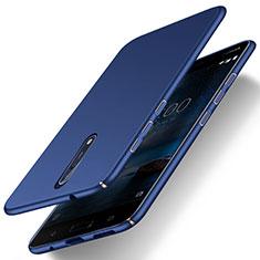 Etui Plastique Rigide Mat pour Nokia 8 Bleu