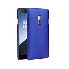 Etui Plastique Rigide Mat pour OnePlus 2 Bleu