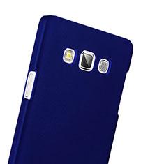 Etui Plastique Rigide Mat pour Samsung Galaxy A3 Duos SM-A300F Bleu