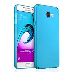 Etui Plastique Rigide Mat pour Samsung Galaxy A7 (2016) A7100 Bleu Ciel