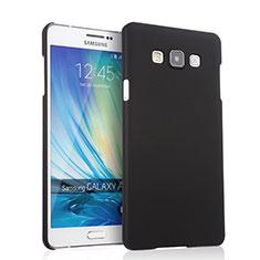 Etui Plastique Rigide Mat pour Samsung Galaxy A7 Duos SM-A700F A700FD Noir