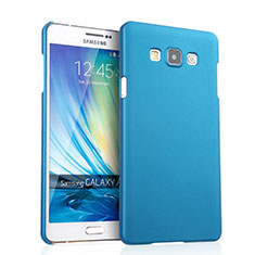 Etui Plastique Rigide Mat pour Samsung Galaxy A7 SM-A700 Bleu Ciel