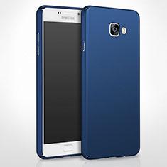 Etui Plastique Rigide Mat pour Samsung Galaxy A8 (2016) A8100 A810F Bleu