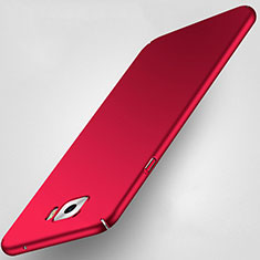 Etui Plastique Rigide Mat pour Samsung Galaxy C5 Pro C5010 Rouge