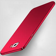 Etui Plastique Rigide Mat pour Samsung Galaxy C7 Pro C7010 Rouge