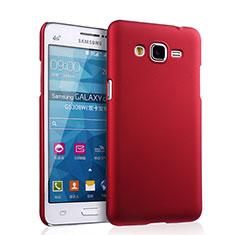 Etui Plastique Rigide Mat pour Samsung Galaxy Grand Prime SM-G530H Rouge