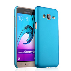 Etui Plastique Rigide Mat pour Samsung Galaxy J3 (2016) J320F J3109 Bleu Ciel
