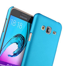 Etui Plastique Rigide Mat pour Samsung Galaxy J3 Bleu Ciel
