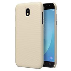 Etui Plastique Rigide Mat pour Samsung Galaxy J7 Pro Or