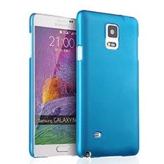 Etui Plastique Rigide Mat pour Samsung Galaxy Note 4 Duos N9100 Dual SIM Bleu Ciel