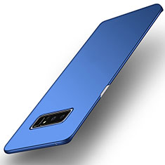 Etui Plastique Rigide Mat pour Samsung Galaxy Note 8 Duos N950F Bleu