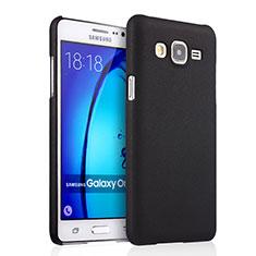 Etui Plastique Rigide Mat pour Samsung Galaxy On5 G550FY Noir