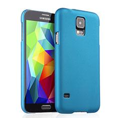 Etui Plastique Rigide Mat pour Samsung Galaxy S5 Duos Plus Bleu Ciel