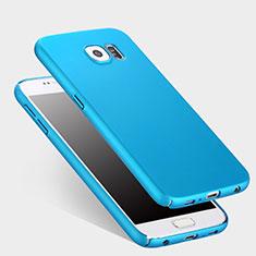 Etui Plastique Rigide Mat pour Samsung Galaxy S6 Duos SM-G920F G9200 Bleu Ciel