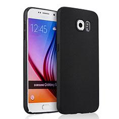 Etui Plastique Rigide Mat pour Samsung Galaxy S6 Duos SM-G920F G9200 Noir