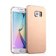 Etui Plastique Rigide Mat pour Samsung Galaxy S6 Edge SM-G925 Or