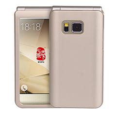 Etui Plastique Rigide Mat pour Samsung W(2016) Or
